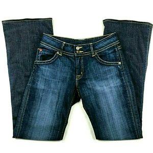 Hudson Wide Leg Dark Wash Jeans size 30